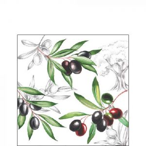 Ambiente servetten Olives 25